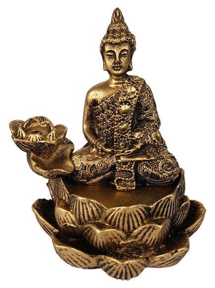 Incensário cascata flor de lotus buda hindu