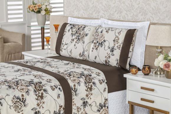 Jogo de cama lençol casal queen requinte 4 peças