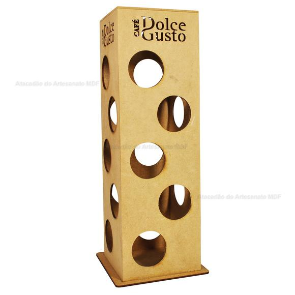 Porta capsulas p/ 21 unidades dolce gusto madeira mdf