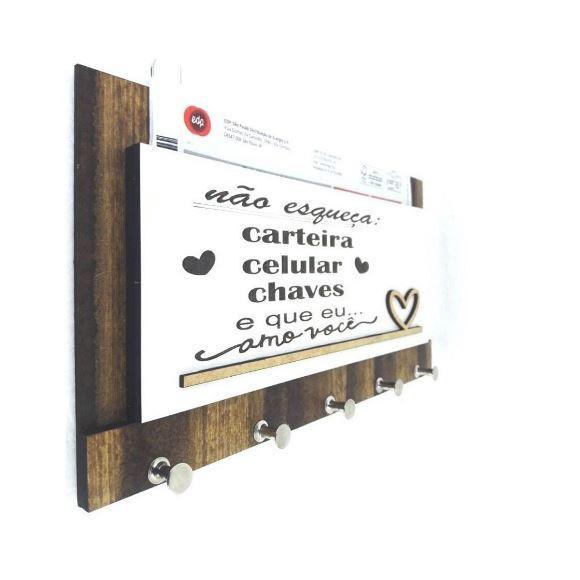 Porta chaves decoração parede mdf corte a lazer a01