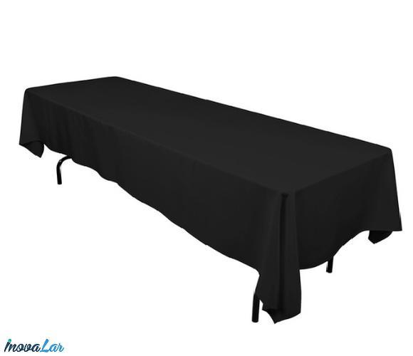 Toalha de mesa preta 1,50x3,00 festa mesa grande