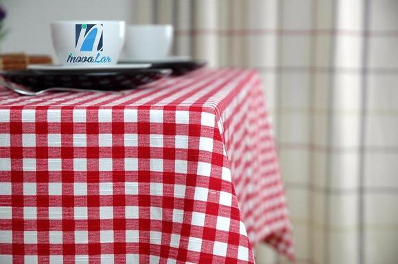 Toalha de mesa xadrez vermelho 0,70x1,00 para pizzaria