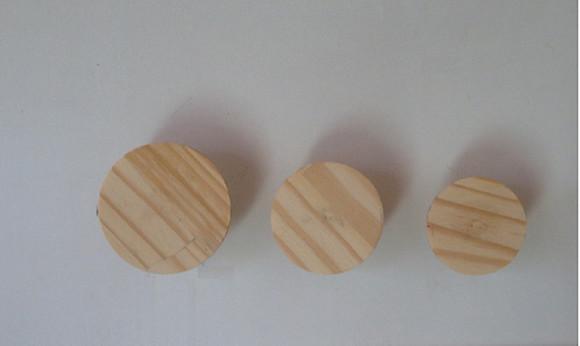 Trio de ganchos de parede