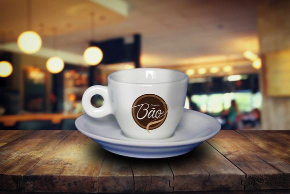 Xícara de café coquinho 70ml personalizado - 12 un
