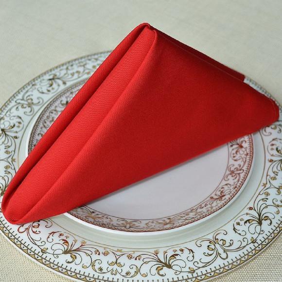 Kit 12 guardanapo 30x30 vermelho