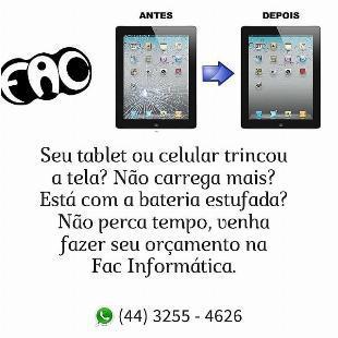 Assistência técnica em celulares e tablet