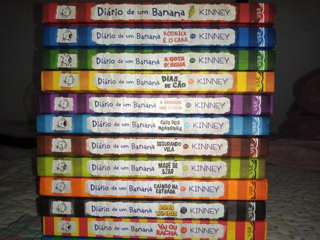 Box de 7 volumes da série diário de um banana