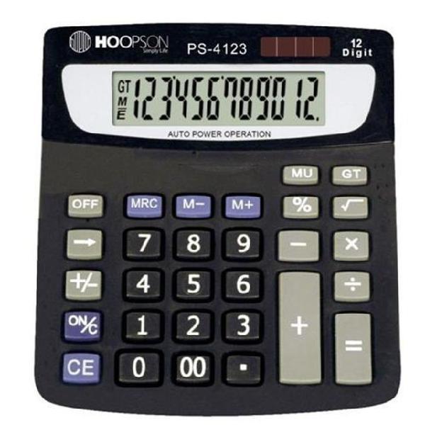 Calculadora de mesa 12digitos bat/solar preta promoção