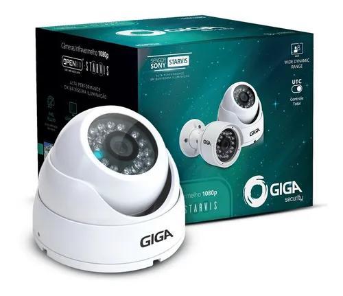 Câmera dome giga starvis 1080p gs0051 filma colorido noite
