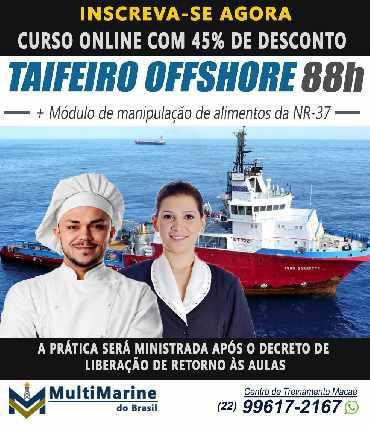 Curso de taifeiro offshore 88h