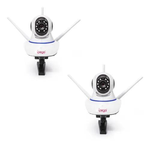 Kit 2 câmera ptz ip 1.3mp 720p hd wireless wifi áudio sd