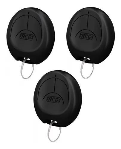 Kit 3 controles rcg chaveiro portão eletrônico alarme