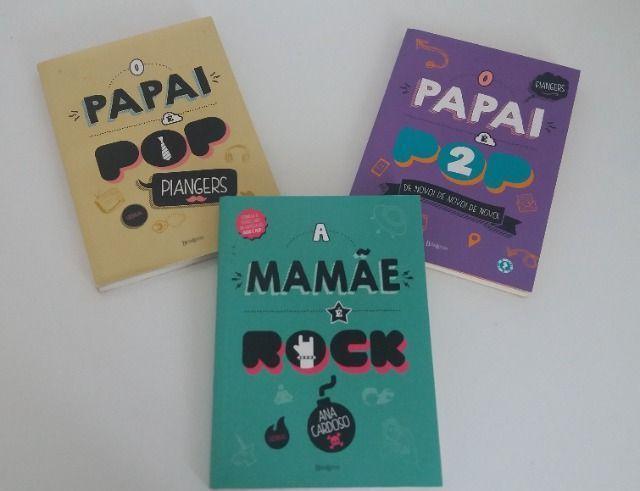 Kit 3 livros - papai é pop e mamãe é rock
