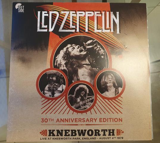 Lp vinil led zeppelin - live at knebworth park 30th