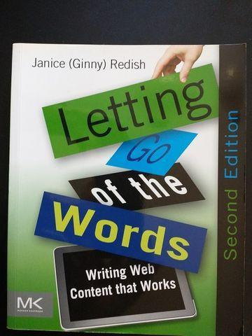 """Livro """"letting go of the words: wrting web content that"""