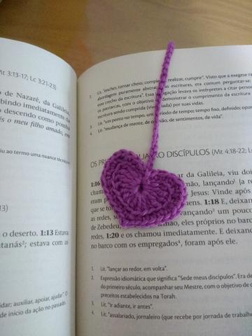 Marcador de livro crochê