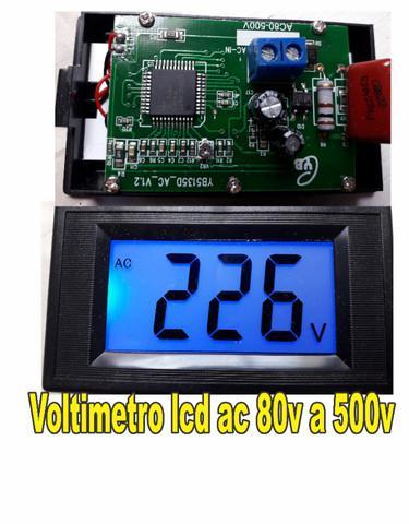 Voltímetro digital lcd 80-500v ac