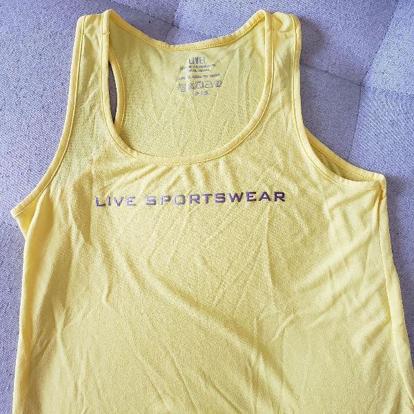 Blusa fitness live amarela