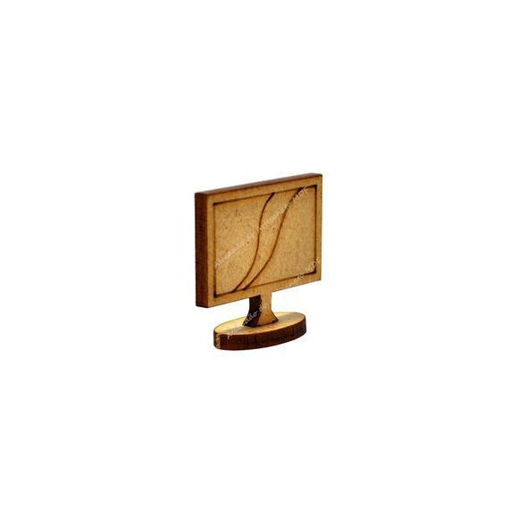 3 televisões miniatura polly mdf madeira