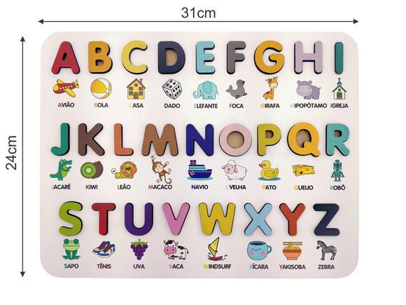 Alfabeto ilustrado 3d - brinquedo educativo pedagógico