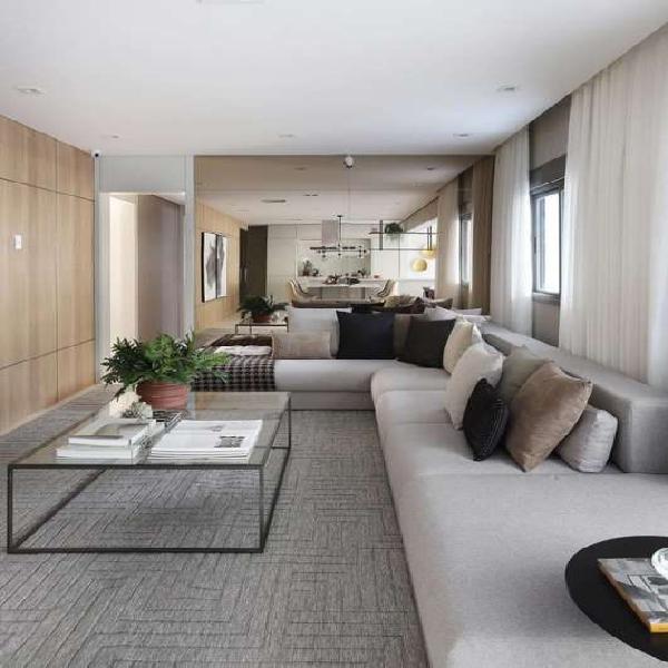 Apartamento 155 m2, 4 dorms (2 suítes), hall social
