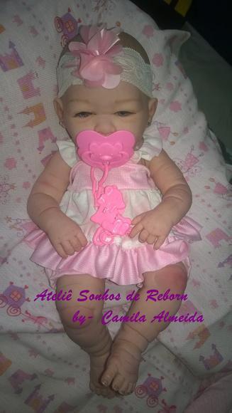 Bebê reborn corpo inteiro em vinil siliconado