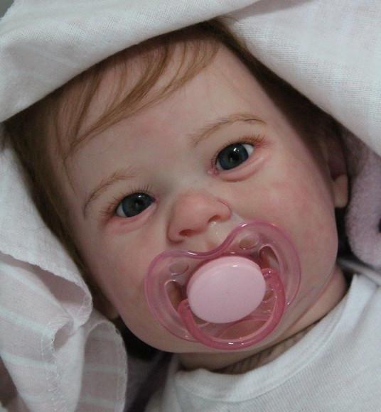 Bebê reborn kit maizie corpo tecido promoção linda
