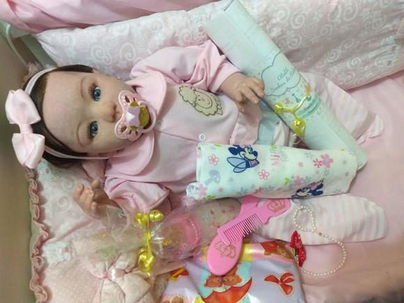 Bebê reborn kylin com enxoval brinde
