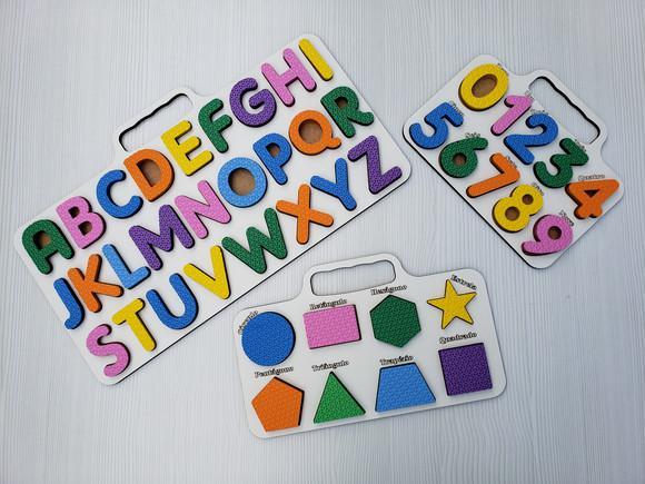 Brinquedo educativo pedagógico kit alfabeto, números,