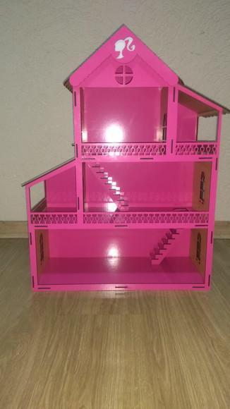 Casinha de boneca barbie, polly, lol, princesas em mdf