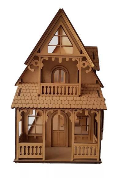 Casa bonecas c11 mdf p polly barbie pocket grátis 24