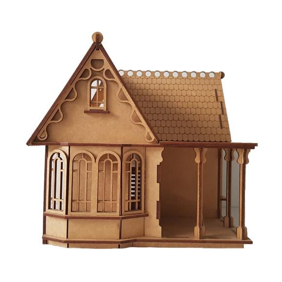 Casa Casinha De Bonecas Mdf Para Polly Barbie Pocket C17