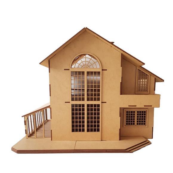Casa casinha de bonecas mdf para polly barbie pocket c9