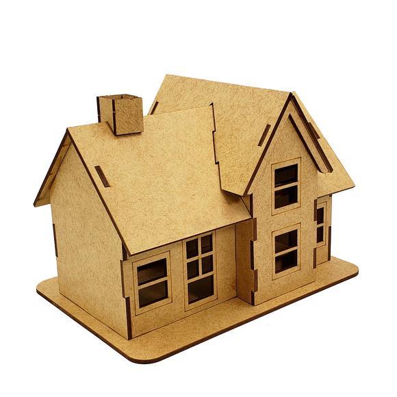 Casa country infantil boneca casinha mdf cru r01