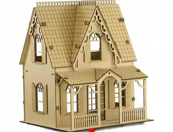 Casa de bonecas mdf para polly barbie pocket e similares c1