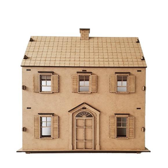 Casa de bonecas mdf para polly barbie pocket e similares c3
