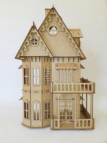 Casa gótica mdf cru