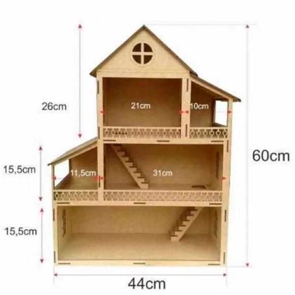 Casinha / casa de boneca infantil - diversão garantida