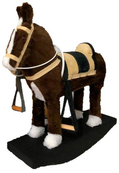Cavalinho de balanço infantil poney country cowboy