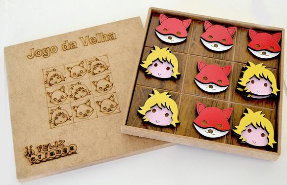 Jogos da velha mdf personalizado rosto pequeno príncipe