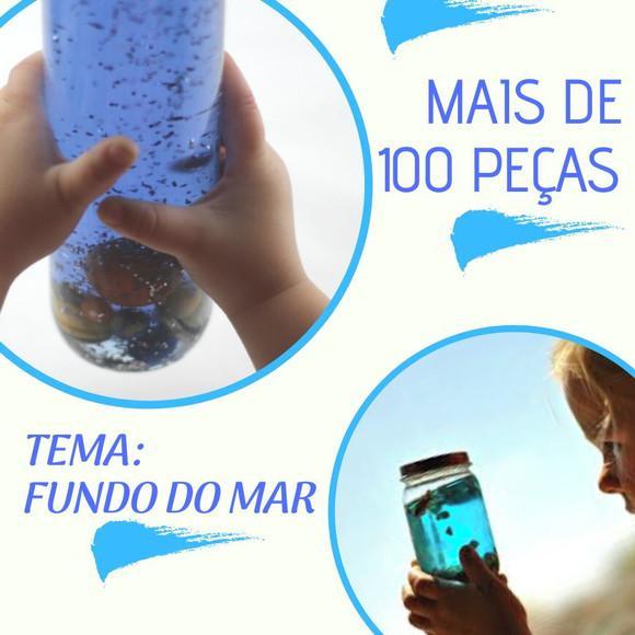 Kit sensorial itens tema fundo do mar frete gratis 100 pçs