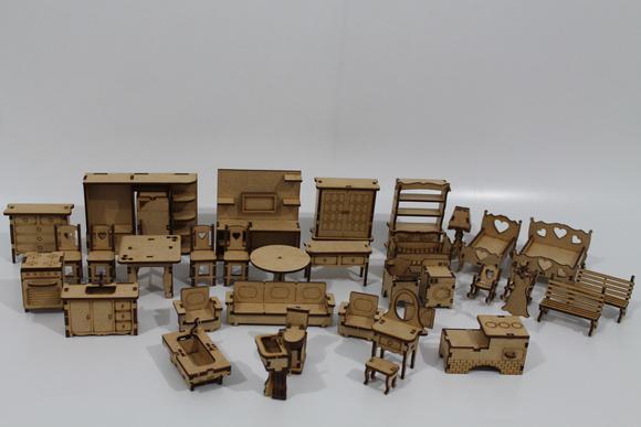 Kit miniatura móveis casinha boneca