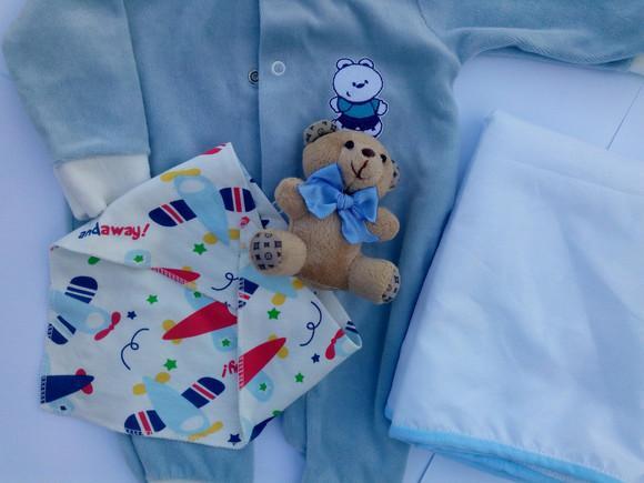 Kit roupa bebê reborn menino