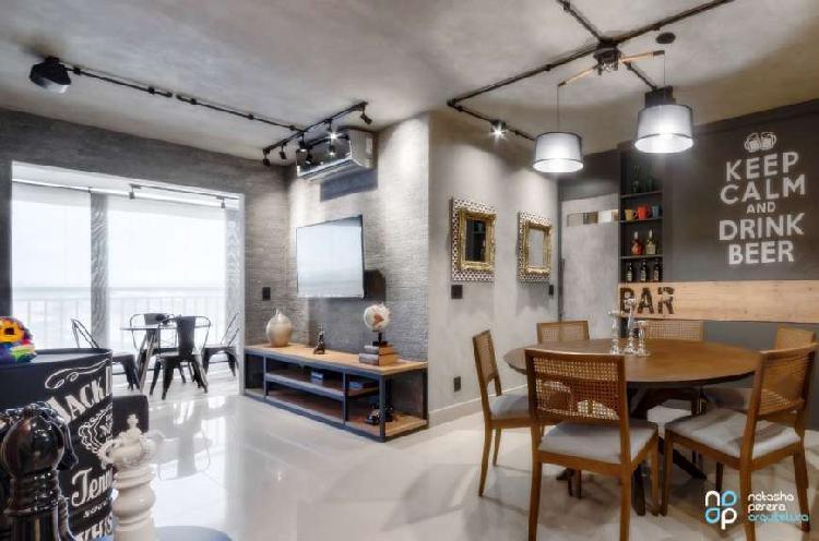 Lindíssimo apartamento mobiliado/ decorado com 88 m2 com 3