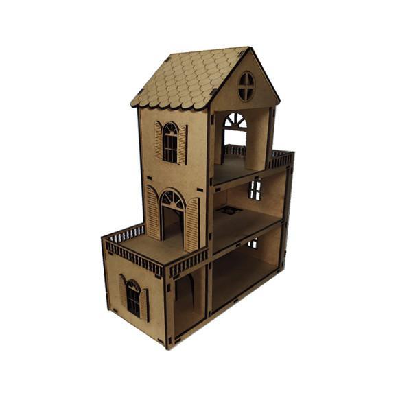 Mini casinha de boneca mdf cru
