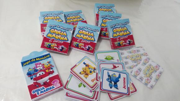 Mini jogo da memória super wings