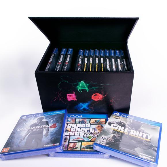 Porta jogos caixa case p/ games play station ps4