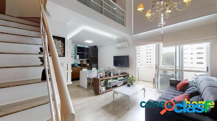 Apartamento loft mobiliado de 58 m², 1 suite e 2 vagas na vila andrade