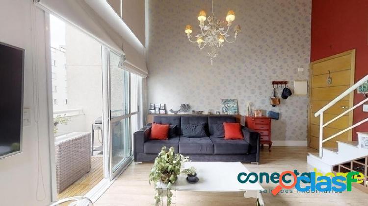 Apartamento Loft mobiliado de 58 m², 1 suite e 2 vagas na Vila Andrade 1