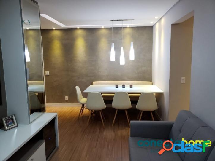 Apartamento com 62 m², 2 dormitórios 1 suite, 1 vaga, varanda gourmet.
